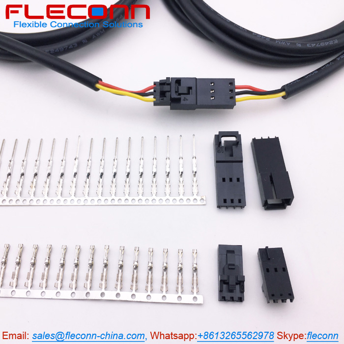Molex 2.54mm Pitch 70400 Series SL 3 Pin Connector Wire Harness with UL2464 22AWG 3 Core Cable.jpg