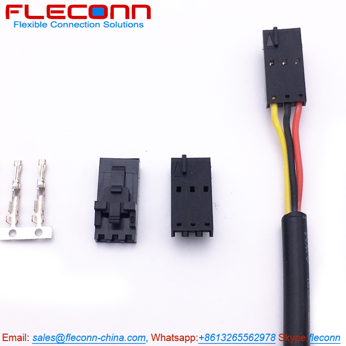 Molex SL 70400-3141 3 Pin Wire Harness, Housing with Positive Lock, Wire Size 22 AWG.jpg