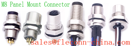 M8 Panel Mount Connector Manufacturer and Supplier in China