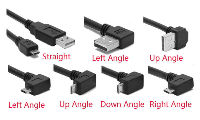Left Angle A to Mini-B USB 2.0 Cable