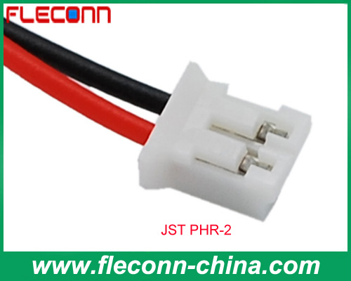 2.0MM JST PHR-2 UL1007 30-24AWG Terminal Wire Assembly Manufacturer