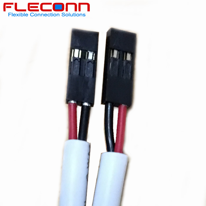 2.54 mm Pitch 2 Pin Connector Cable Harness with UL2517 Resisting 105 ℃ Sheath Cable