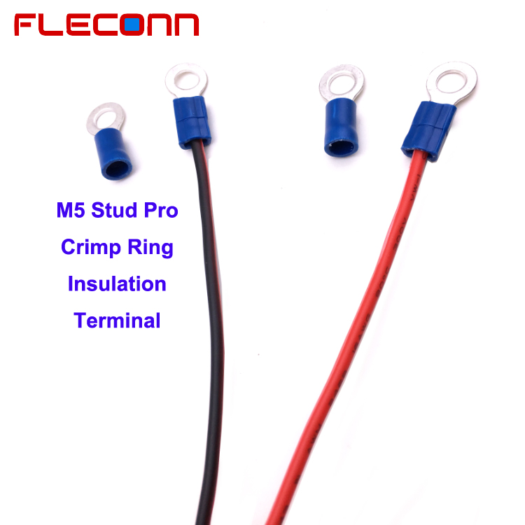 MULTICOMP RVES Series RVES2-5 M5 Vinyl Insulated Ring Terminal Wire