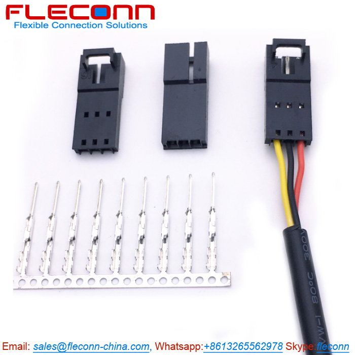 Molex SL 70107-0002 3 Pin 2.54mm Pitch Wire-to-Wire Connector Cable  AssembliesFLECONN