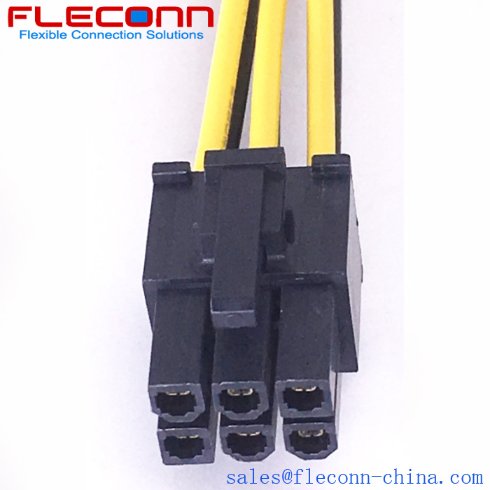 Molex Mini-Fit Jr. 45559-0002 6 Pin Female PCIe Power Connector Cable