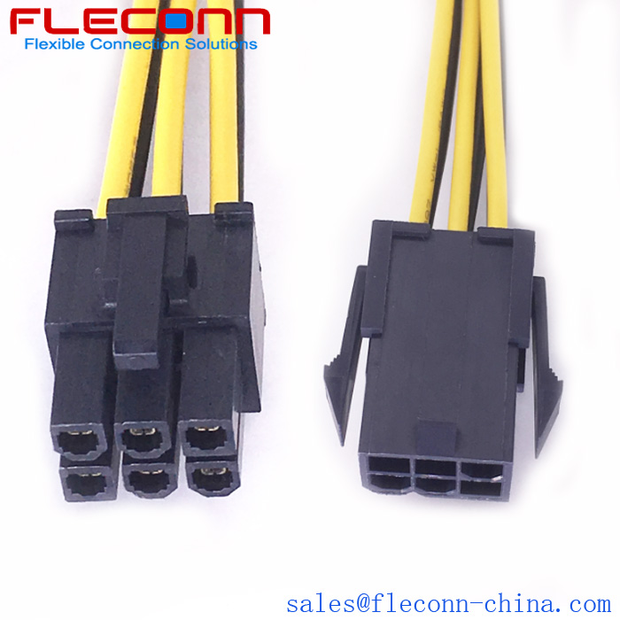 Molex Mini-Fit Jr. 6 Pin 455590002 Receptacle to 469930610 Plug Wire Harness for PCI Express High-end Graphics Add-In Card Applications