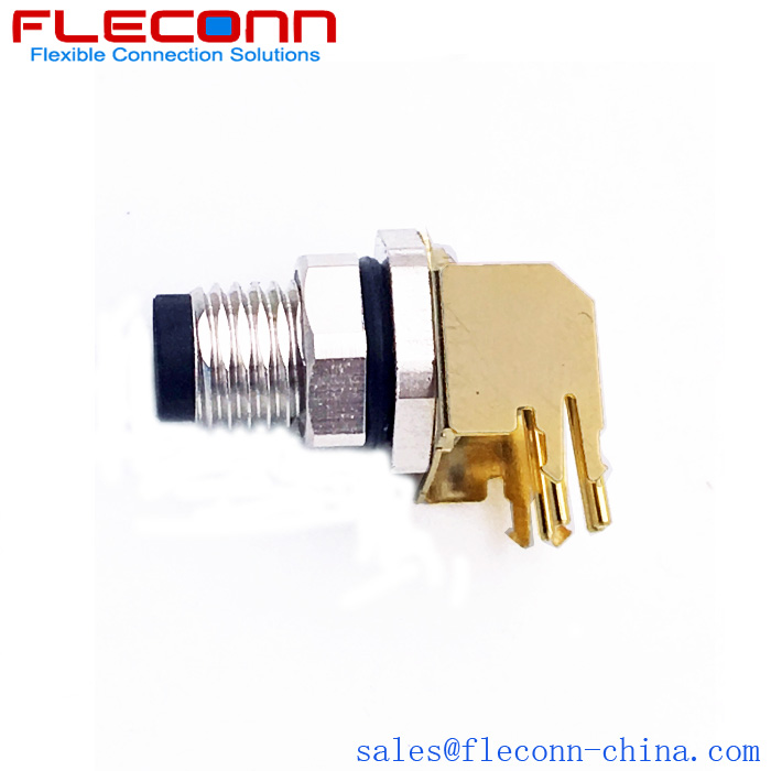 4 Position Male Angled PCB Panel Connector, Rear Panel Mounting Supplier and Manufacturer in China