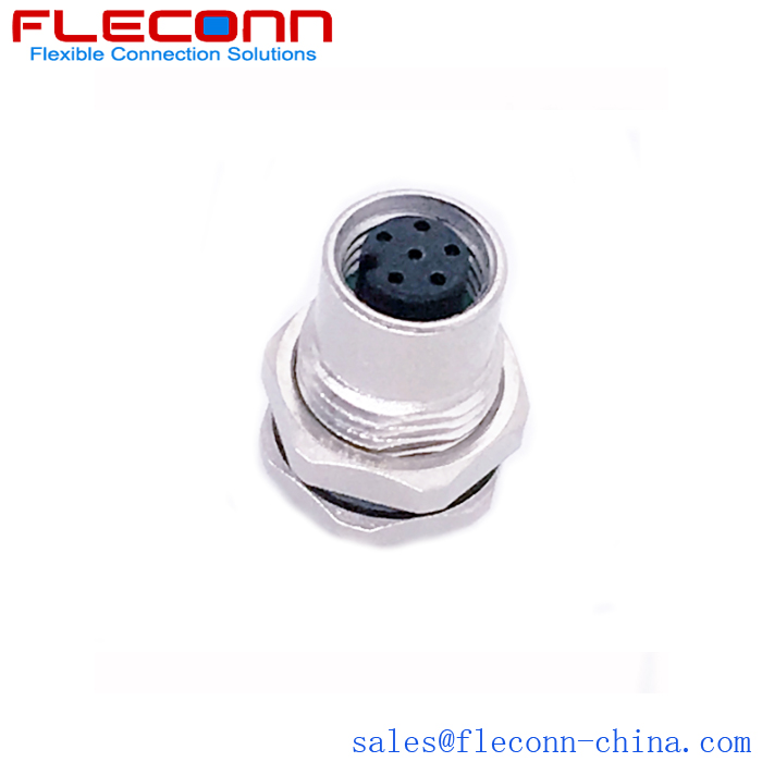 M8 A-code 6 Pos Female Panel Mount Connector Supplier and Manufacturer in China