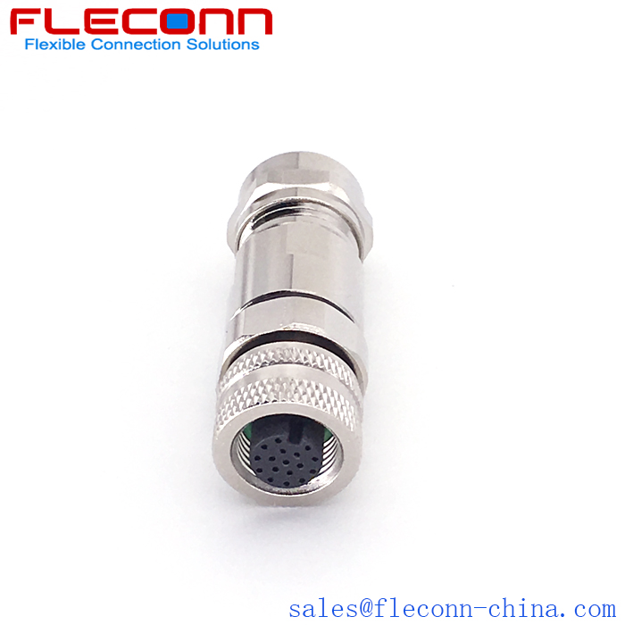 M12 17pin Straight Female Connector