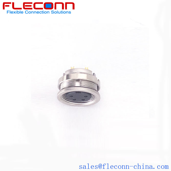 M16 4 Pin Female Panel Connector plug.