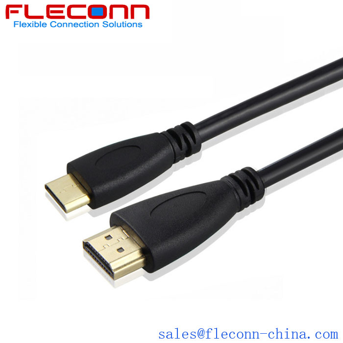 Fleconn can provide mini HDMI to HDMI spring cable, computer laptop high-definition data transmission cable.