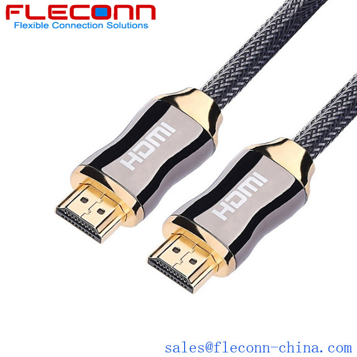 Fleconn can provide metal HDMI high-definition cable, TV, laptop, computer high-definition data transmission cable.