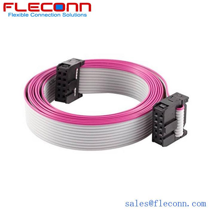 2.54mm Pitch Custom 10 Pin Ribbon IDC Cable